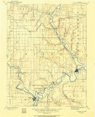 Junction City Kansas Historical topographic map, 1:125000 scale, 30 X 30 Minute, Year 1886