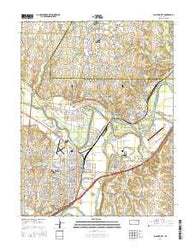 Junction City Kansas Current topographic map, 1:24000 scale, 7.5 X 7.5 Minute, Year 2016