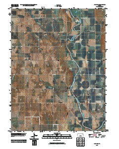 Kackley Kansas Historical topographic map, 1:24000 scale, 7.5 X 7.5 Minute, Year 2009