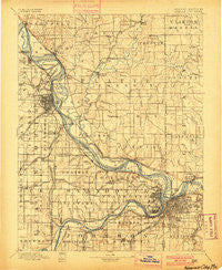 Kansas City Missouri Historical topographic map, 1:125000 scale, 30 X 30 Minute, Year 1894