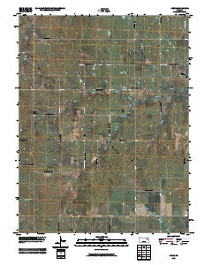 Keene Kansas Historical topographic map, 1:24000 scale, 7.5 X 7.5 Minute, Year 2009