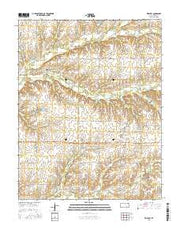 Keighley Kansas Current topographic map, 1:24000 scale, 7.5 X 7.5 Minute, Year 2015 from Kansas Maps Store