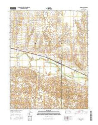 Kendall Kansas Current topographic map, 1:24000 scale, 7.5 X 7.5 Minute, Year 2016