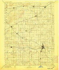 Kingman Kansas Historical topographic map, 1:125000 scale, 30 X 30 Minute, Year 1894
