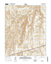 Kingsdown Kansas Current topographic map, 1:24000 scale, 7.5 X 7.5 Minute, Year 2016