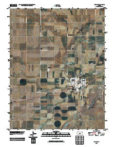 Kinsley Kansas Historical topographic map, 1:24000 scale, 7.5 X 7.5 Minute, Year 2009