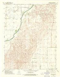 Kinsley SW Kansas Historical topographic map, 1:24000 scale, 7.5 X 7.5 Minute, Year 1972