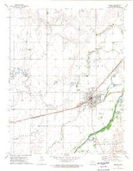 Kinsley Kansas Historical topographic map, 1:24000 scale, 7.5 X 7.5 Minute, Year 1972