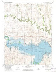 Kirwin Reservoir Kansas Historical topographic map, 1:24000 scale, 7.5 X 7.5 Minute, Year 1972