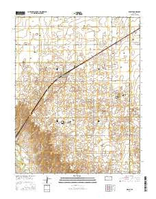 Kismet Kansas Current topographic map, 1:24000 scale, 7.5 X 7.5 Minute, Year 2016