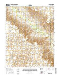 Kismet SW Kansas Current topographic map, 1:24000 scale, 7.5 X 7.5 Minute, Year 2016