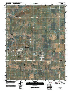 La Harpe Kansas Historical topographic map, 1:24000 scale, 7.5 X 7.5 Minute, Year 2009