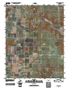 Lafontaine Kansas Historical topographic map, 1:24000 scale, 7.5 X 7.5 Minute, Year 2009