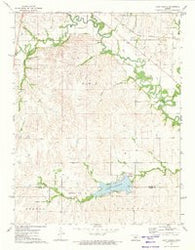 Lake Kahola Kansas Historical topographic map, 1:24000 scale, 7.5 X 7.5 Minute, Year 1972