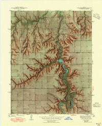 Lake Mc Bride Kansas Historical topographic map, 1:31680 scale, 7.5 X 7.5 Minute, Year 1942