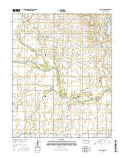 Lake Afton Kansas Current topographic map, 1:24000 scale, 7.5 X 7.5 Minute, Year 2015 from Kansas Maps Store
