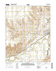 Lakin Kansas Current topographic map, 1:24000 scale, 7.5 X 7.5 Minute, Year 2016