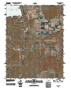 Langley Kansas Historical topographic map, 1:24000 scale, 7.5 X 7.5 Minute, Year 2009