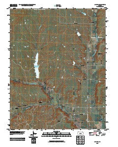 Lapland Kansas Historical topographic map, 1:24000 scale, 7.5 X 7.5 Minute, Year 2009