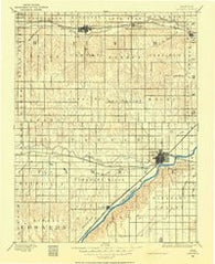 Larned Kansas Historical topographic map, 1:125000 scale, 30 X 30 Minute, Year 1889