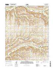 Latham Kansas Current topographic map, 1:24000 scale, 7.5 X 7.5 Minute, Year 2015 from Kansas Maps Store