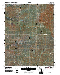 Latham SE Kansas Historical topographic map, 1:24000 scale, 7.5 X 7.5 Minute, Year 2009