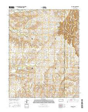 Latham SE Kansas Current topographic map, 1:24000 scale, 7.5 X 7.5 Minute, Year 2015 from Kansas Maps Store