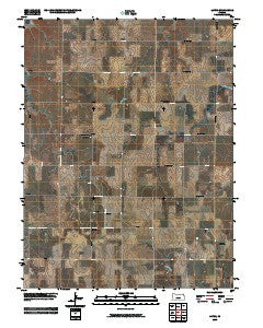 Laton Kansas Historical topographic map, 1:24000 scale, 7.5 X 7.5 Minute, Year 2009