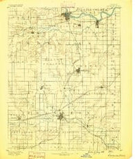 Lawrence Kansas Historical topographic map, 1:125000 scale, 30 X 30 Minute, Year 1889