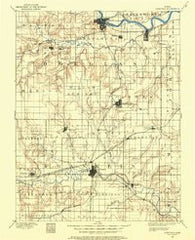 Lawrence Kansas Historical topographic map, 1:125000 scale, 30 X 30 Minute, Year 1885
