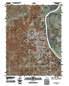 Leavenworth Kansas Historical topographic map, 1:24000 scale, 7.5 X 7.5 Minute, Year 2009