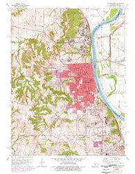 Leavenworth Kansas Historical topographic map, 1:24000 scale, 7.5 X 7.5 Minute, Year 1961
