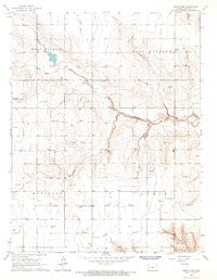 Leoti 3 SE Kansas Historical topographic map, 1:24000 scale, 7.5 X 7.5 Minute, Year 1966