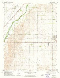 Lewis Kansas Historical topographic map, 1:24000 scale, 7.5 X 7.5 Minute, Year 1972