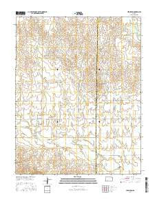 Lexington Kansas Current topographic map, 1:24000 scale, 7.5 X 7.5 Minute, Year 2016
