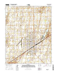 Liberal Kansas Current topographic map, 1:24000 scale, 7.5 X 7.5 Minute, Year 2016