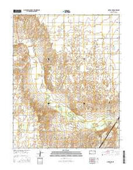 Liberal NE Kansas Current topographic map, 1:24000 scale, 7.5 X 7.5 Minute, Year 2016