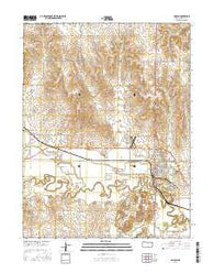 Lincoln Kansas Current topographic map, 1:24000 scale, 7.5 X 7.5 Minute, Year 2016