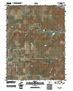 Lincoln NW Kansas Historical topographic map, 1:24000 scale, 7.5 X 7.5 Minute, Year 2009