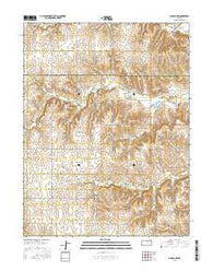 Lincoln NW Kansas Current topographic map, 1:24000 scale, 7.5 X 7.5 Minute, Year 2016