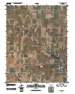 Little River Kansas Historical topographic map, 1:24000 scale, 7.5 X 7.5 Minute, Year 2009
