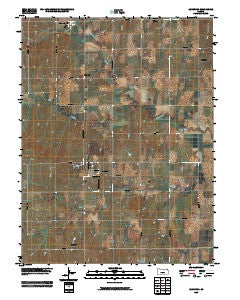 Longford Kansas Historical topographic map, 1:24000 scale, 7.5 X 7.5 Minute, Year 2009