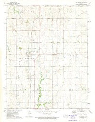 Lost Springs Kansas Historical topographic map, 1:24000 scale, 7.5 X 7.5 Minute, Year 1972