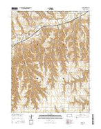 Ludell Kansas Current topographic map, 1:24000 scale, 7.5 X 7.5 Minute, Year 2015 from Kansas Map Store