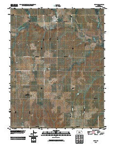 Luray Kansas Historical topographic map, 1:24000 scale, 7.5 X 7.5 Minute, Year 2009