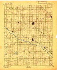 Lyons Kansas Historical topographic map, 1:125000 scale, 30 X 30 Minute, Year 1894