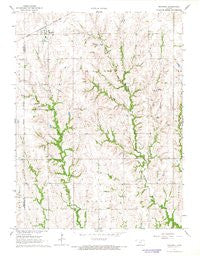 Mahaska Kansas Historical topographic map, 1:24000 scale, 7.5 X 7.5 Minute, Year 1966