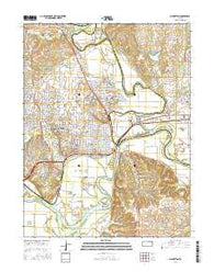 Manhattan Kansas Current topographic map, 1:24000 scale, 7.5 X 7.5 Minute, Year 2016