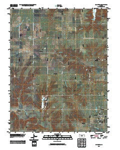 Mapleton Kansas Historical topographic map, 1:24000 scale, 7.5 X 7.5 Minute, Year 2009