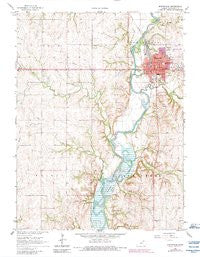 Marysville Kansas Historical topographic map, 1:24000 scale, 7.5 X 7.5 Minute, Year 1966